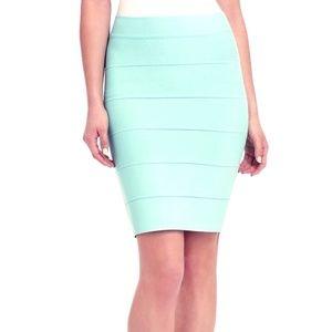 BCBG Mid-Length Teal Bandage Skirt